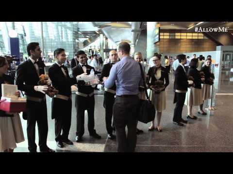 #AllowMe The St. Regis Doha warm welcome at Hamad International Airport