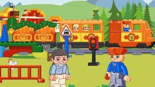 ЛЕГО МУЛЬТИКИ ПРО ПАРОВОЗИКИ Мультфильмы для детей Мультики лего про поезда Мультик игра