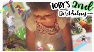 TOBY'S 2ND BIRTHDAY SPECIAL!! // PINATA, OPENING PRESENTS, SLIP & SLIDE