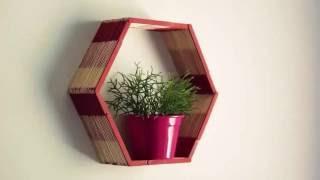 Hướng dẫn làm kệ treo tường handmade bằng que đè lưỡi