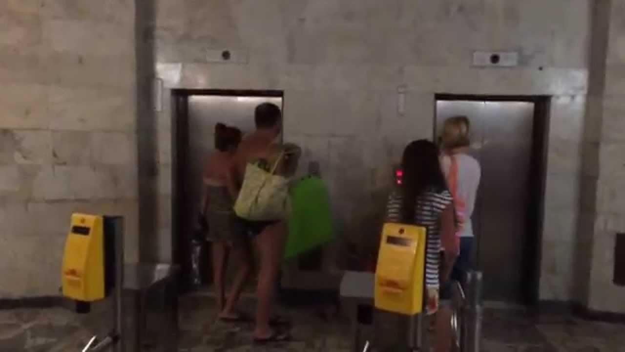 Лифт на пляж в Крыму - YouTube