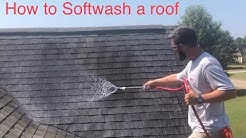 How to clean a roof. Start to finish