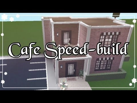 Bloxburg cafe speed build youtube for Kitchen designs bloxburg