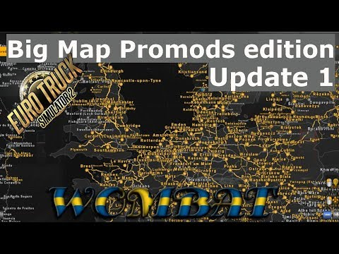 ETS2 1.32 - Big Map for Promods Update 1 - Adding SR 7.5, Scandinavia, Promzona and Afromap 1.6