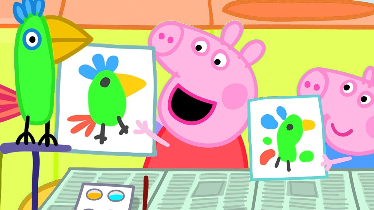 Peppa Pig Official Channel | The Artist Peppa Pig - Polly's Portrait