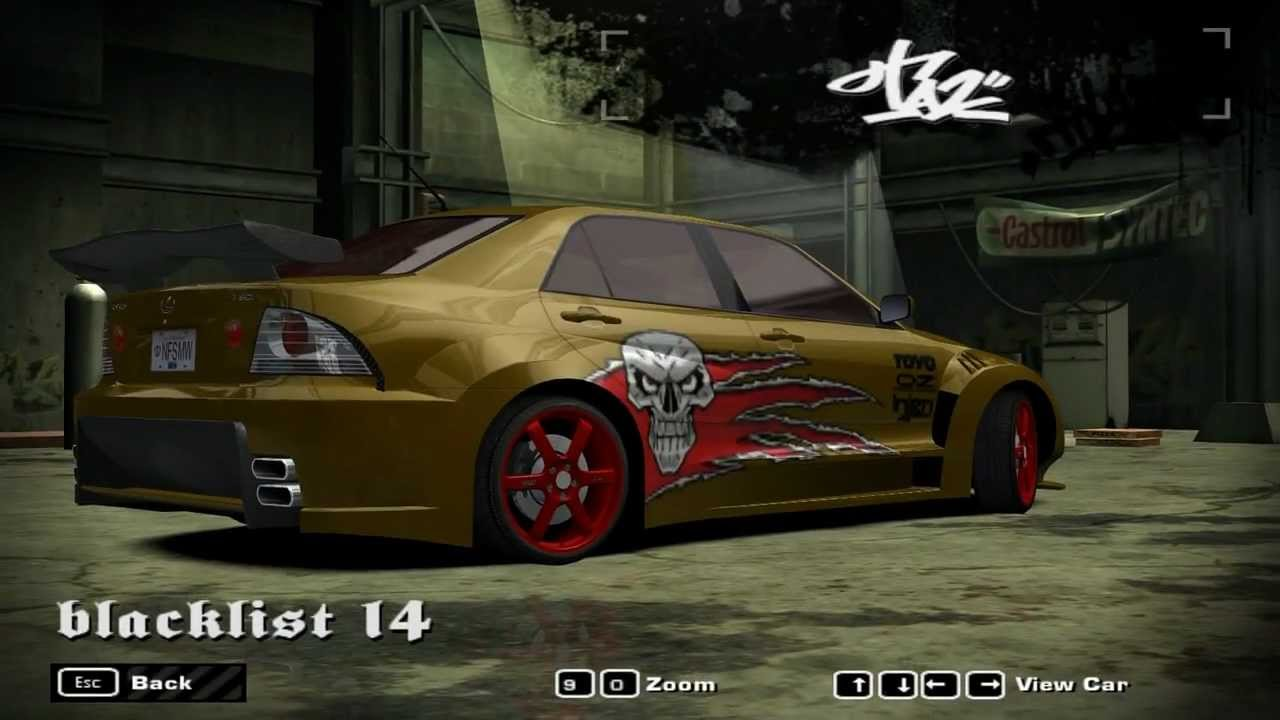 Need For Speed Most Wanted Blacklist  Car