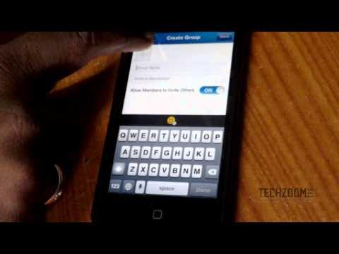 BBM app on iPhone 5 with iOS 7 (Demo)