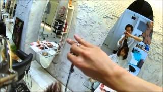 ロング⇒ボブのばっさりカット動画です。結婚式後にバッサリ切る女子の確...