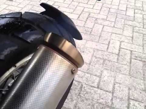 Supertrapp exhaust on BMW R1150GS