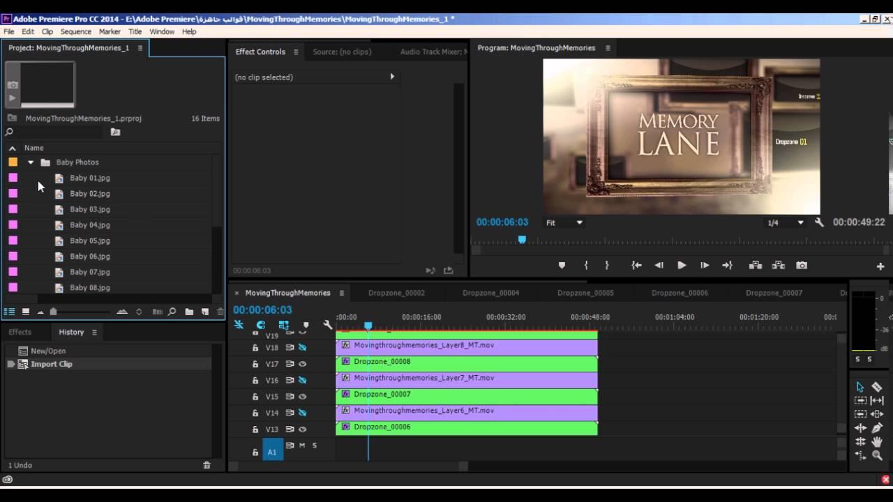 شرح كيفية التعديل على قوالب ومشاريع برنامج ادوبي بريمير Youtube