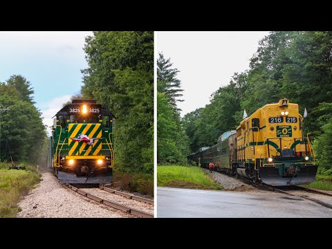 Chasing Conway Scenic & New Hampshire Northcoast Trains on July 14th, 2020