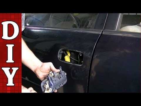 How To Remove And Replace A Broken Exterior Door Handle Toyota Camry YouTube
