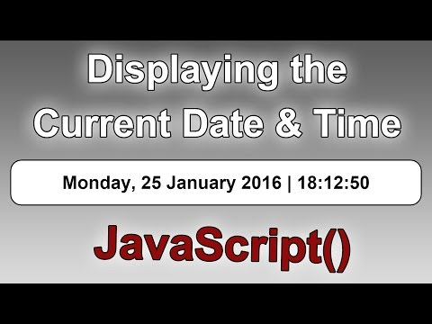 Displaying the Current/Live Date & Time on a Web Page [JavaS