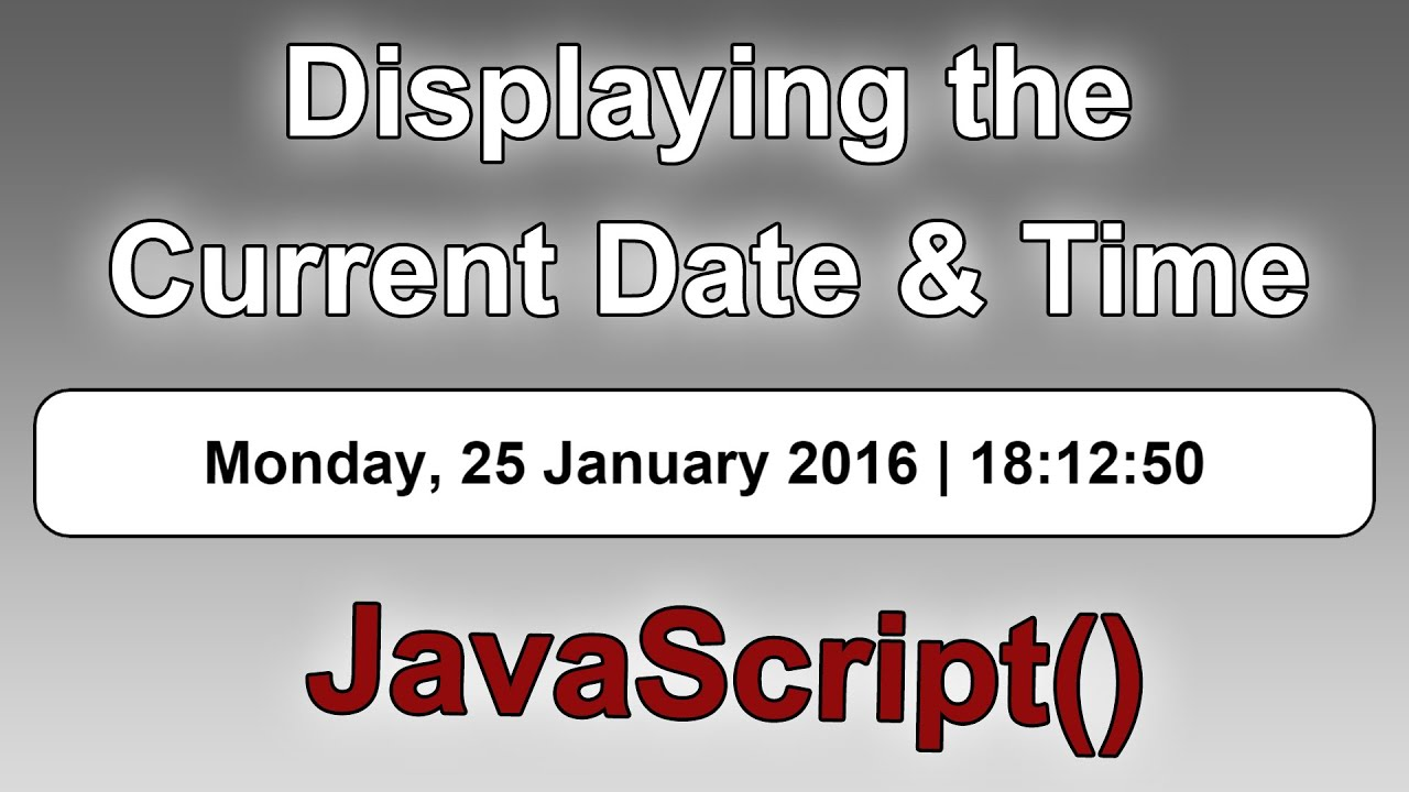 Javascript today's date