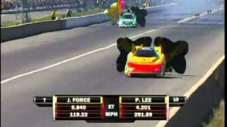 Paul Lee John Force FC Qualifying Session3 The Gator Nationals 2011 Drag Racing.mpg
