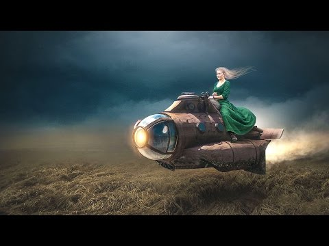 Rocket Girl   Photoshop Manipulation Tutorial   Fantasy Photo Effects
