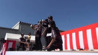 松飛台祭りでのフラジャイルその2(技を教える) FRAGILE ダンス.