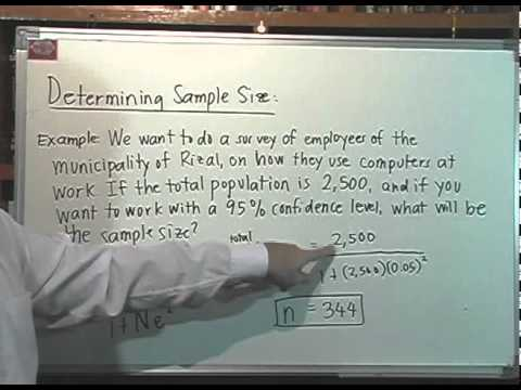 Determining Sample Size - YouTube