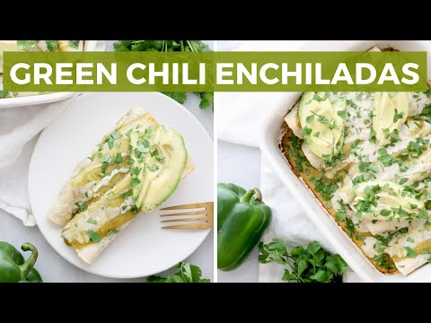 Gluten-Free & Vegan Green Chili Enchiladas! The most delicious healthy dinner!