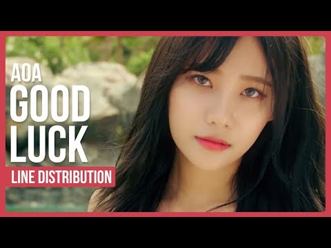 AoA - Good Luck Line Distribution (Color Coded)