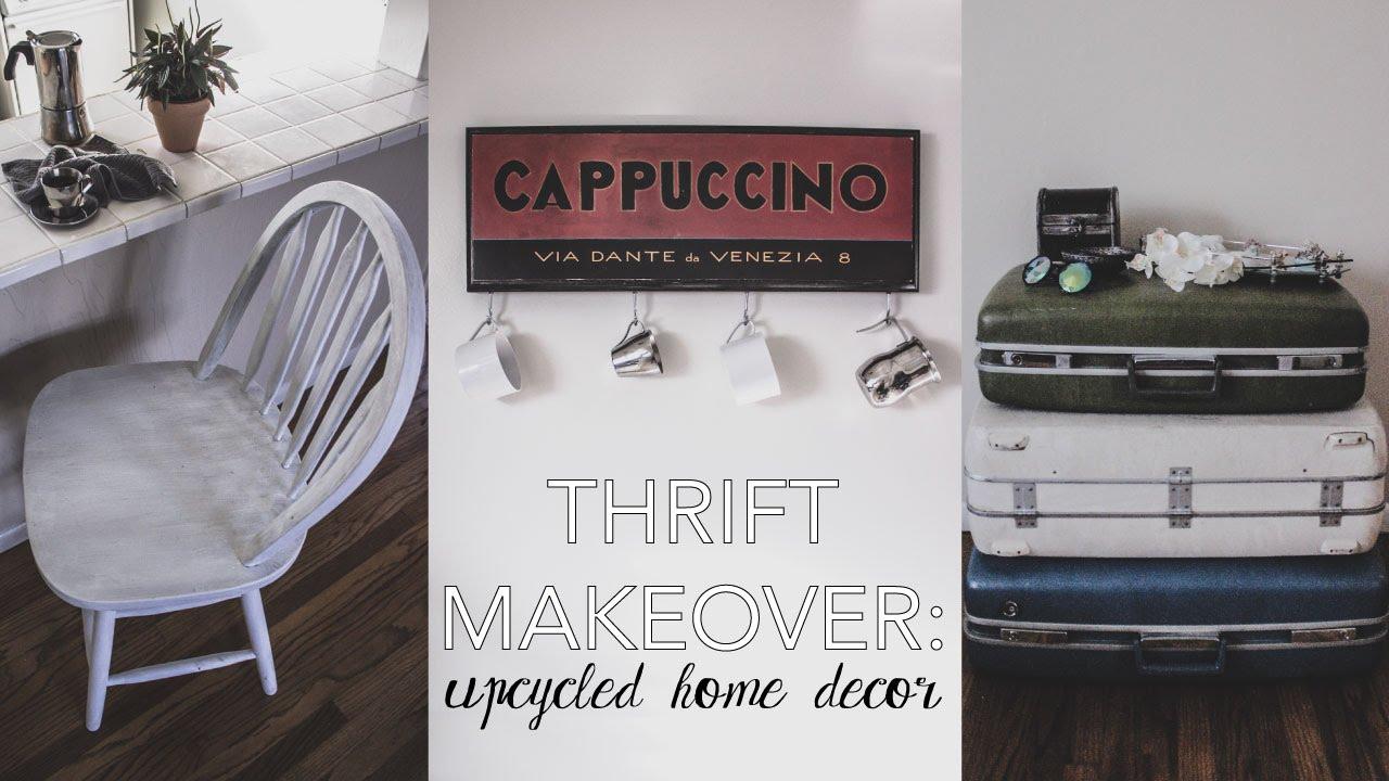 Thrift Makeover Upcycled Home Decor