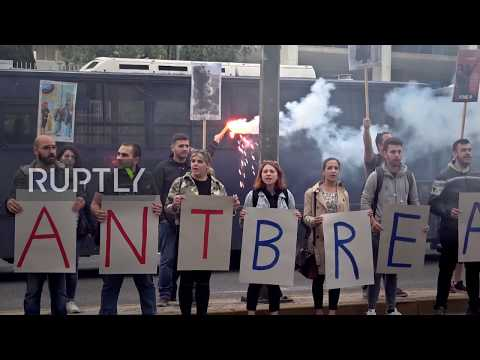 Greece: Demonstrators rally outside US Embassy in solidarity with George Floyd protests