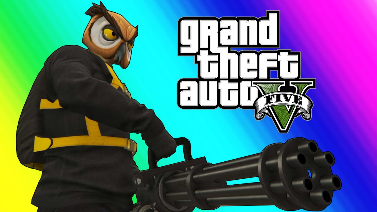 Gta 5 Online Funny Moments The Weenie Boys Minigun
