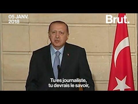 La réponse sèche du président turc Erdogan à un journaliste français