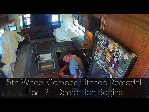 Camper Remodel  - Kitchen Demolition Begins - Part 2