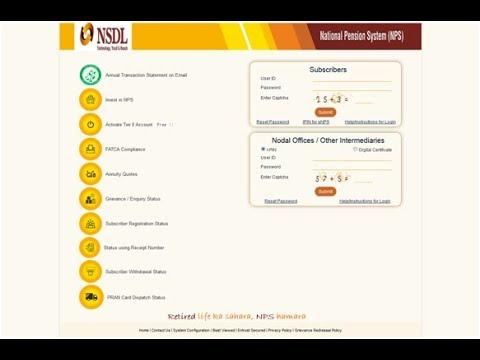 NPS Login and Transaction Statement | nps account men login kaise karen - YouTube