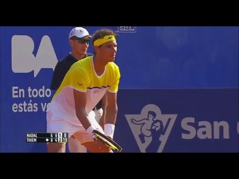 Rafael Nadal vs  Dominic Thiem. SF set-3 Argentina Open 2016
