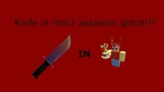 HOW TO GET YOUR KNIFE IN THE MM2 LOBBY!!! roblox mm2 assassin