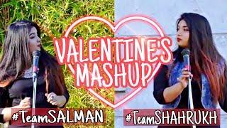 Salman Khan vs Shahrukh Khan Songs  Valentines Mashup Ft. Srushti Barlewar  Bollywood Love Songs