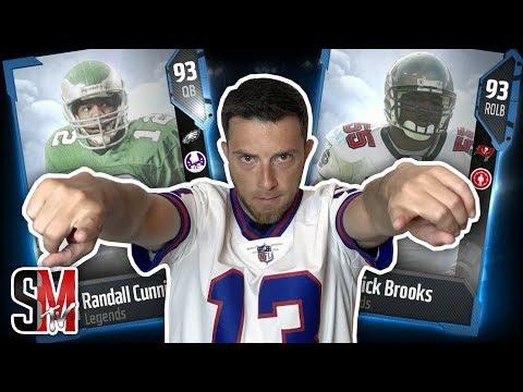 WE GOT ANOTHER BIG PULL! NEW Legend Derrick Brooks & Randall Cunningham! Madden NFL 18 PACK OPENING
