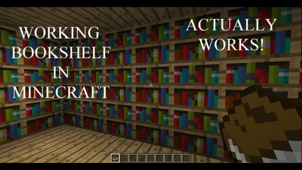 Working Bookshelf In Minecraft
