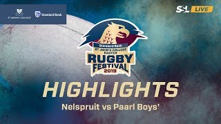 Highlights: Nelspruit vs Paarl Boys', St John's College Easter Rugby Festival 2019