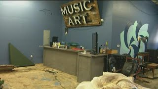 Water main break in Miramar floods San Diego Music and Art Cooperative