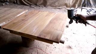 Step 2 Finishing Greywash Rustic Kayu Jati