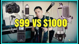 Microphone Comparison - Dynamic vs Ribbon vs Condenser -Trombone Mic Shootout
