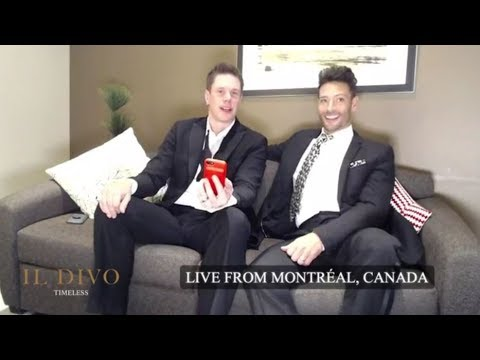 IL DIVO Live Chat Montreal, Canada 1-12-2018