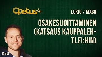 Osakesijoittaminen (katsaus kauppalehti.fi:hin)