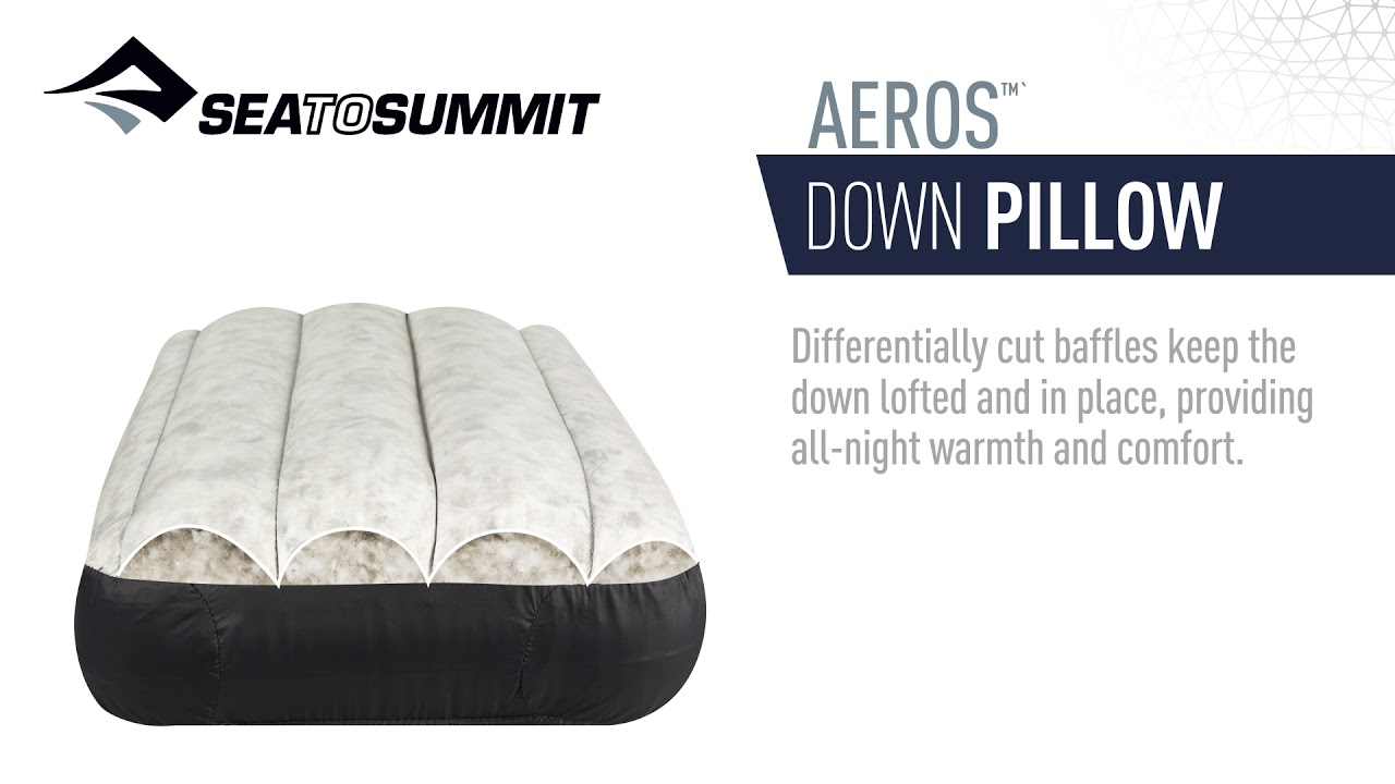 aeros down ultralight pillow sea to