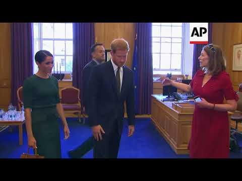 Prince Harry and Meghan Markle meet Irish PM Varadkar in Dublin