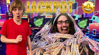 Winning 30,000 Tickets In An Arcade!!  Almost Impossible