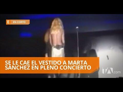 Los Tirantes Del Vestido De Marta Sánchez Le Jugaron Una Mala Pasada En Corto