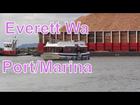 Everett Washington...Marina...Sailboats....Tug Boats...Port....Seals....RVerTV