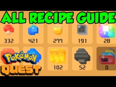 Pokemon Quest COOKING GUIDE! All Recipes in Pokemon Quest!