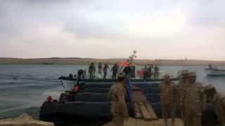 شاهد أسد قناة السويس الجديدة لحظة وصوله على لنش بجزيرة البلاح