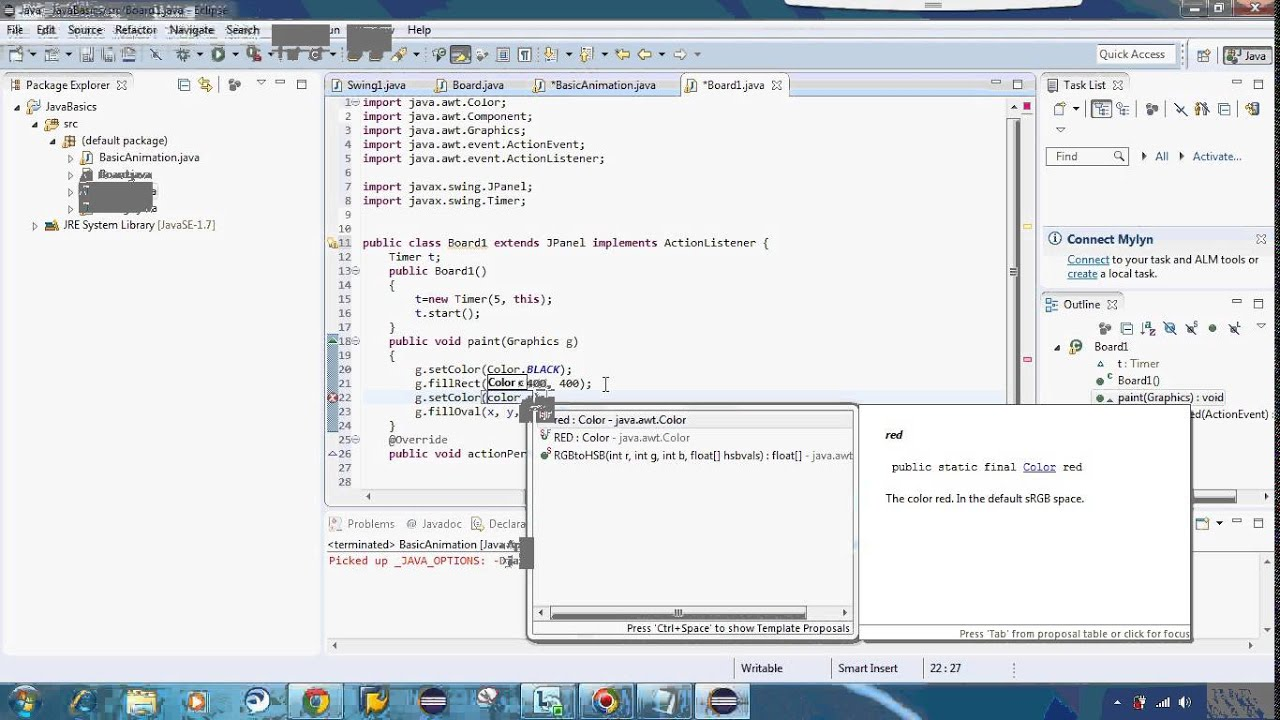 make animation from java using Timer in swing  How to make simple animation  java android