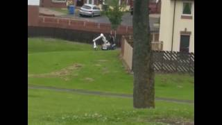Woman Walks Right Into A Controlled Explosion